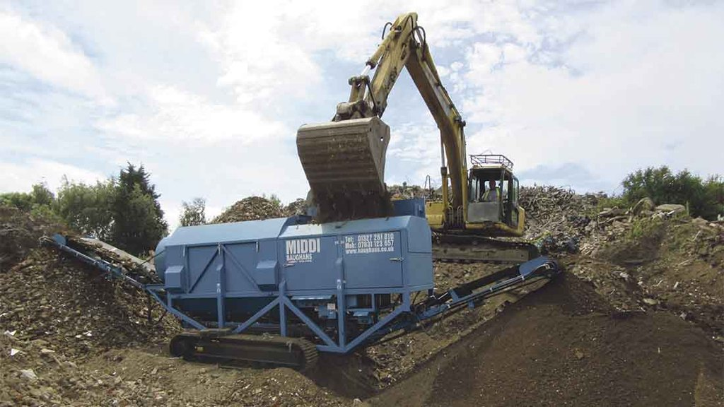 Baughan tracked crusher