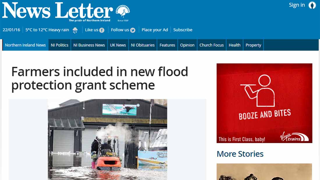Farmers included in new flood protection grant scheme