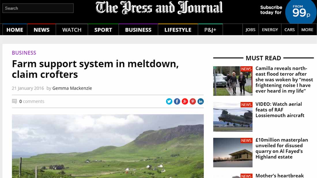Farm support system in meltdown, claim crofters