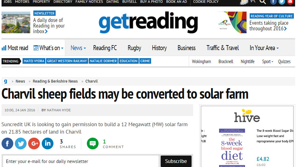 Charvil sheep fields may be converted to solar farm