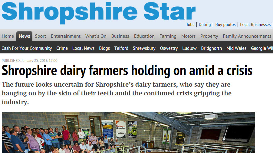 Shropshire dairy farmers holding on amid a crisis