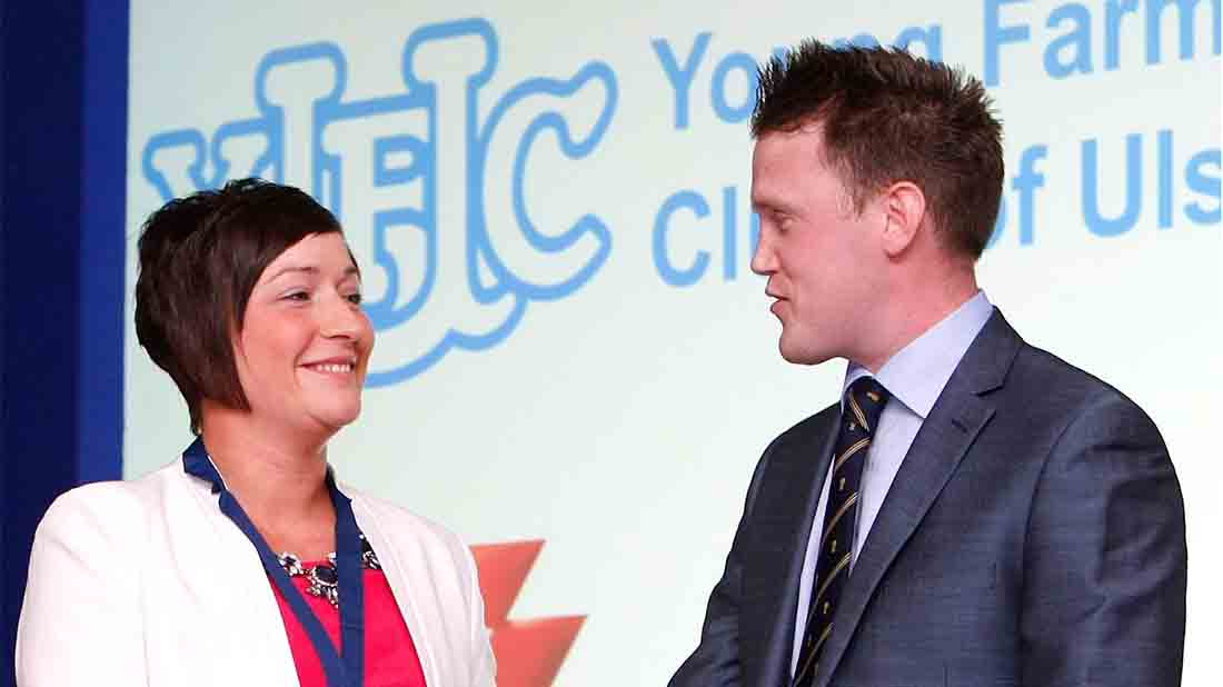 James Speers with YFCU President, Roberta Simmons