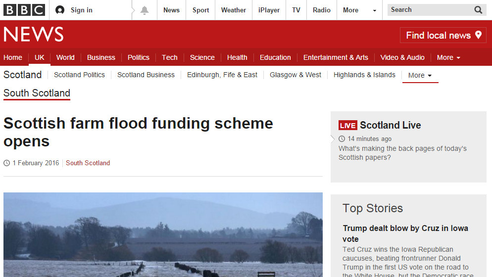 Scottish farm flood funding scheme opens
