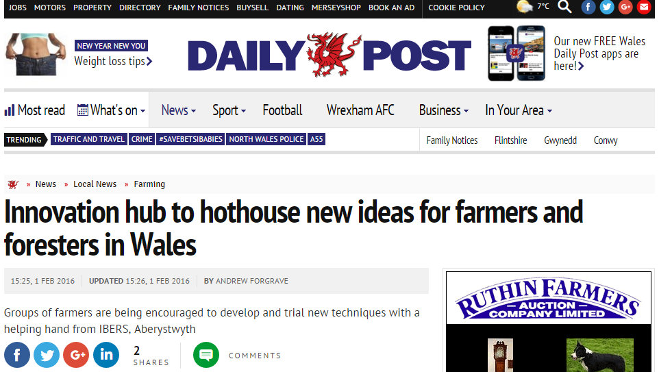 Innovation hub to hothouse new ideas for farmers and foresters in Wales