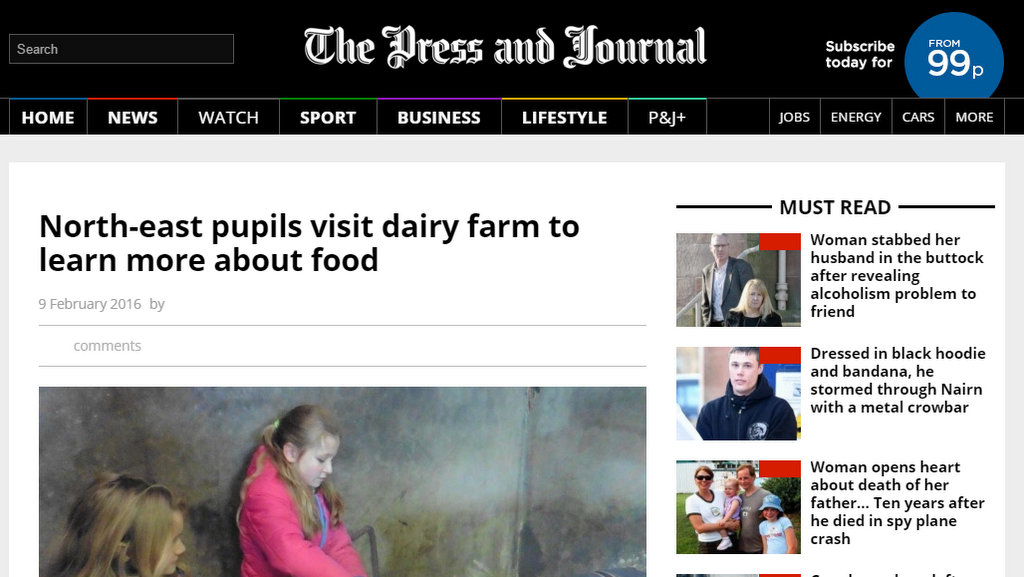North-east pupils visit dairy farm to learn more about food