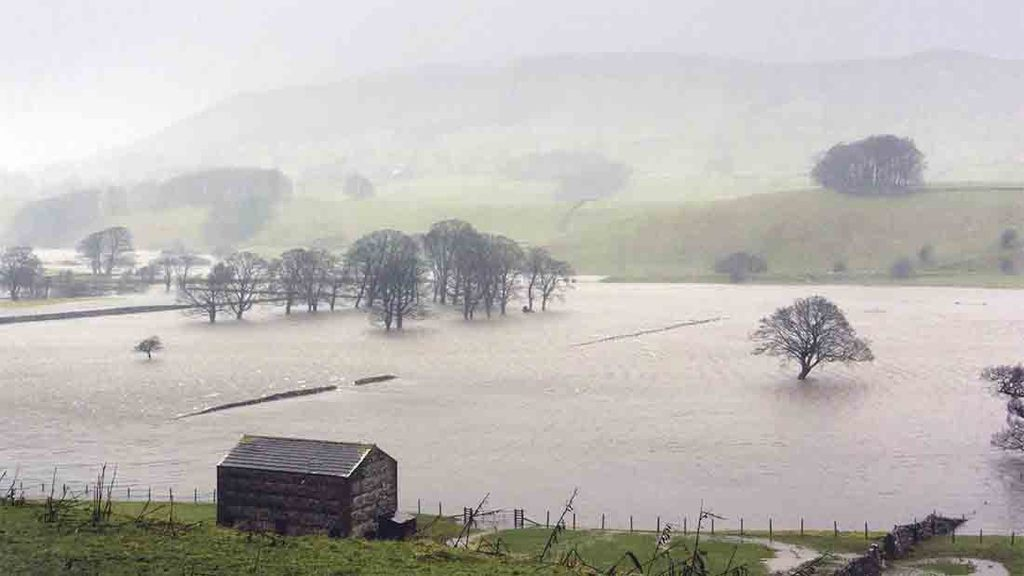 Hundreds of farms were hit by flooding in December