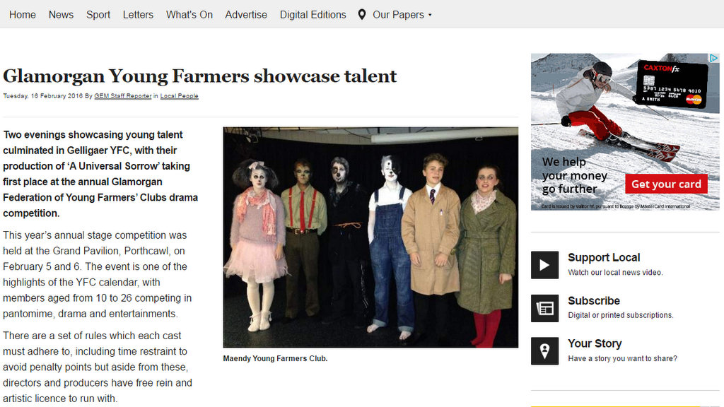 Glamorgan Young Farmers showcase talent