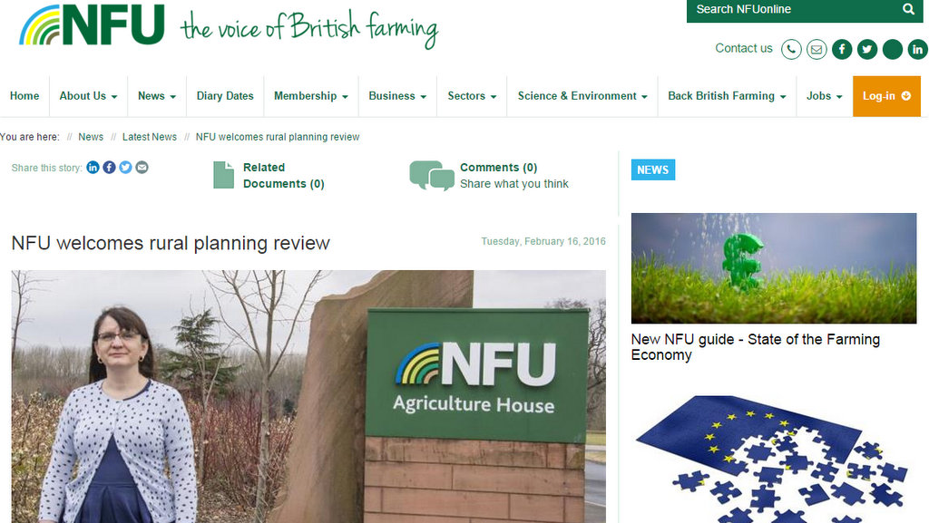 NFU welcomes rural planning review