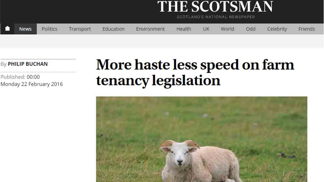 More haste less speed on farm tenancy legislation