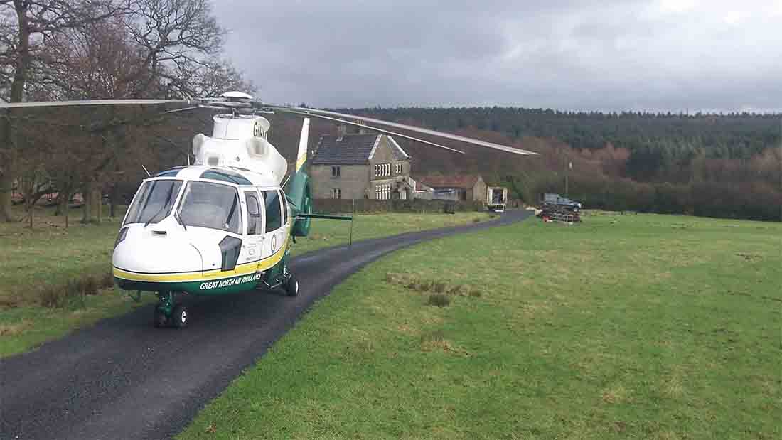 Farmer hospitalised after being kicked in the head by cattle