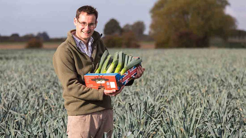 Leek farmers drum up support for St David's day