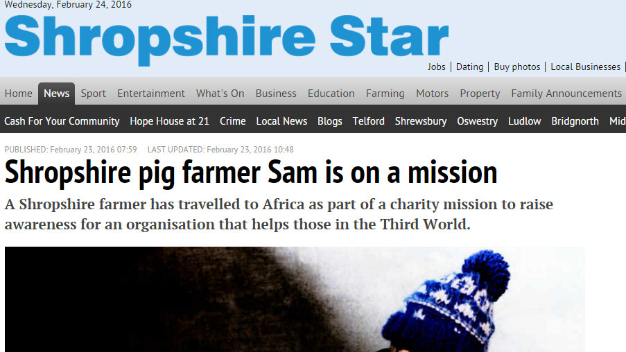 Shropshire pig farmer Sam is on a mission