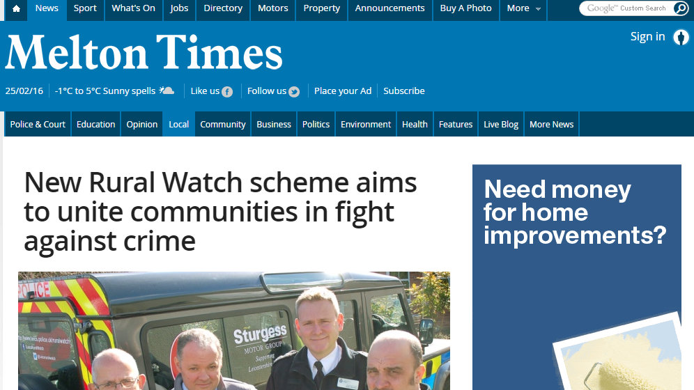 New Rural Watch scheme aims to unite communities in fight against crime