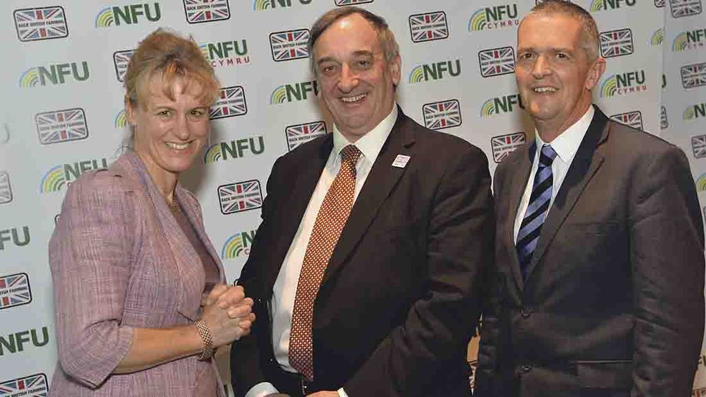 Re-elected: Minette Batters, Meurig Raymond and Guy Smith
