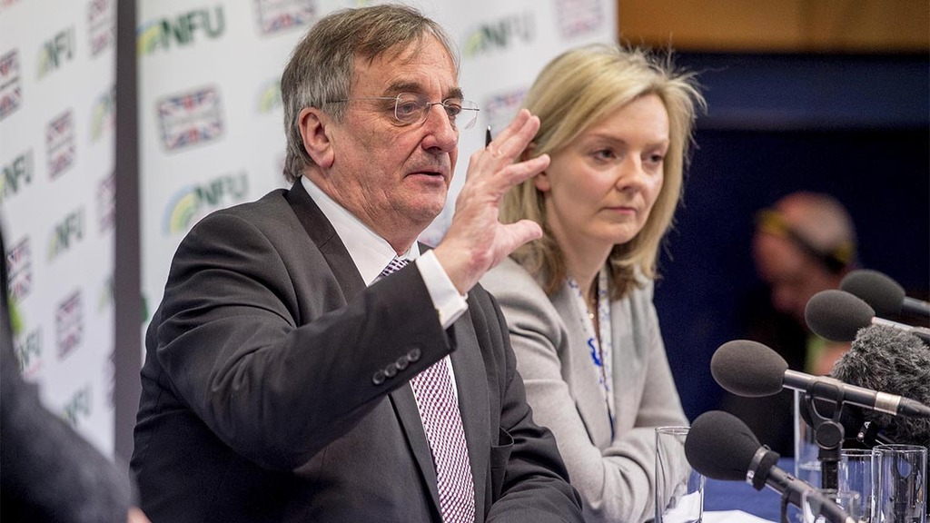 Meurig Raymond and Liz Truss clashed over BPS at the NFU conference