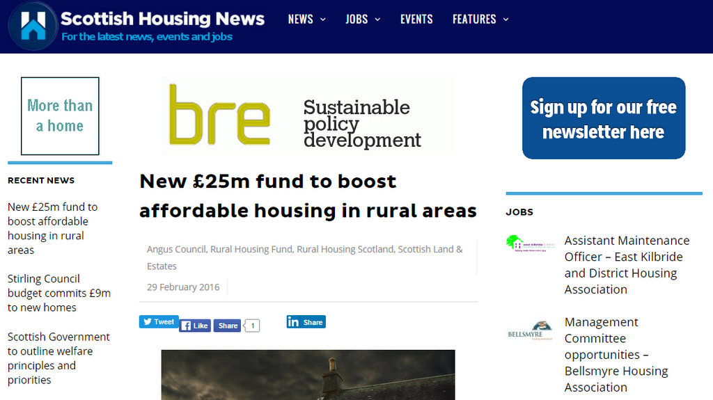 New £25m fund to boost affordable housing in rural areas