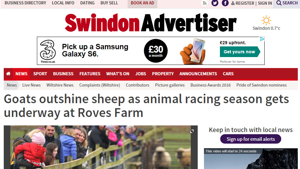 Animal racing season gets under way at Roves Farm