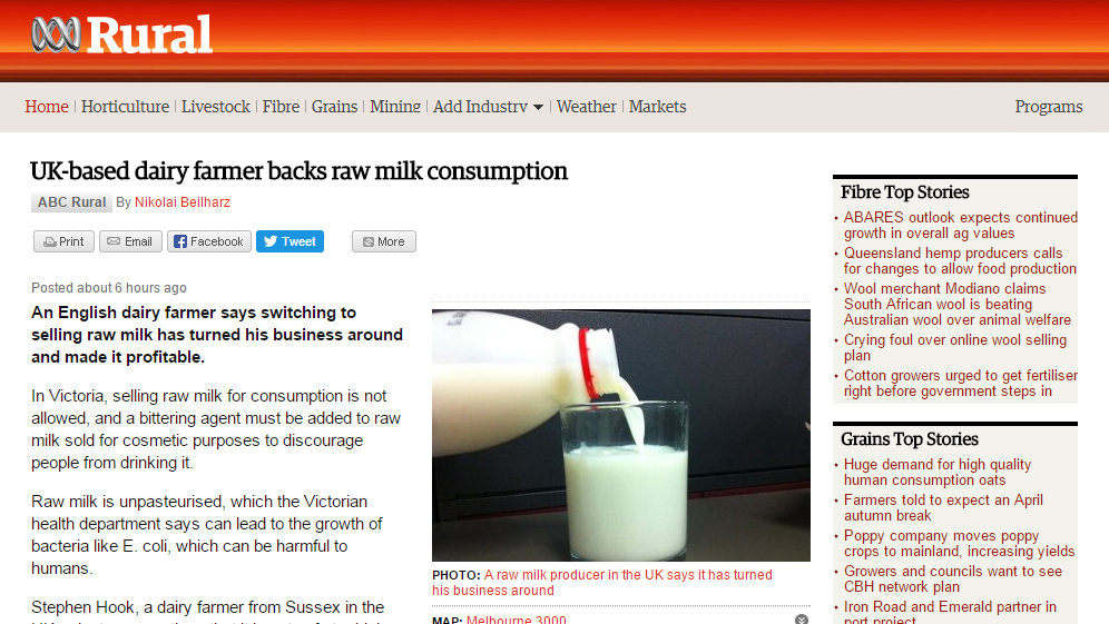 UK-based dairy farmer backs raw milk consumption