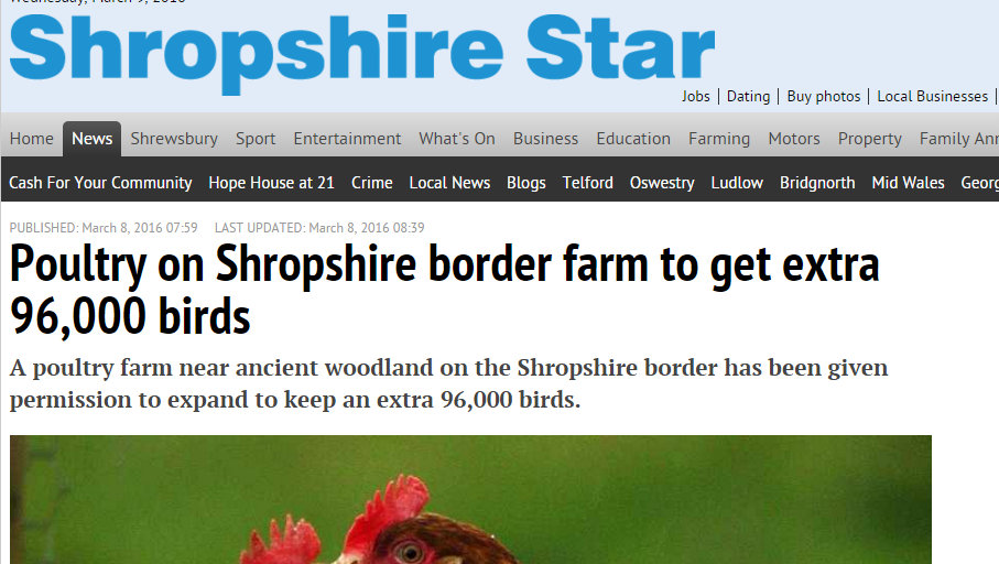 Poultry on Shropshire border farm to get extra 96,000 birds