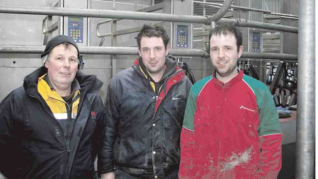 William, Steven and Richard Hartley have almost doubled the size of their herd in the last 18 months