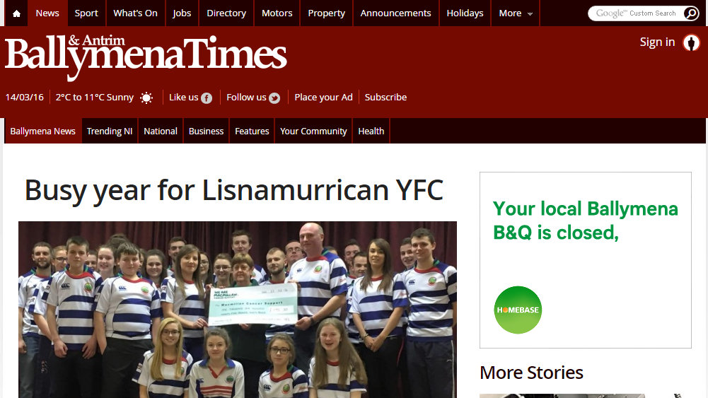 Busy year for Lisnamurrican YFC