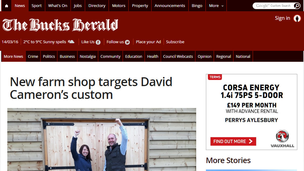 New farm shop targets David Cameron's custom