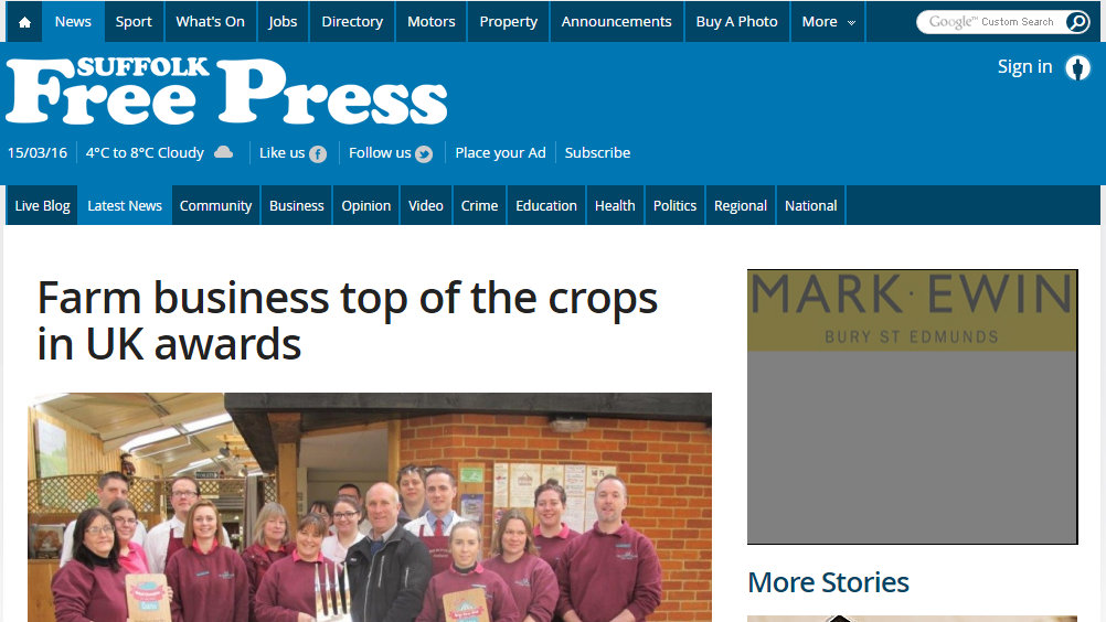 Farm business top of the crops in UK awards