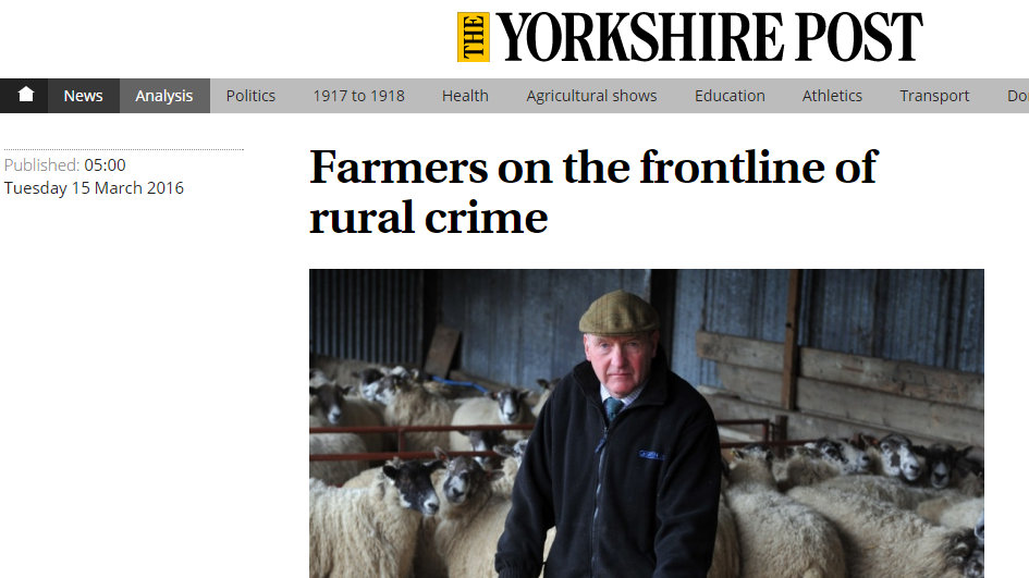 Farmers on the frontline of rural crime