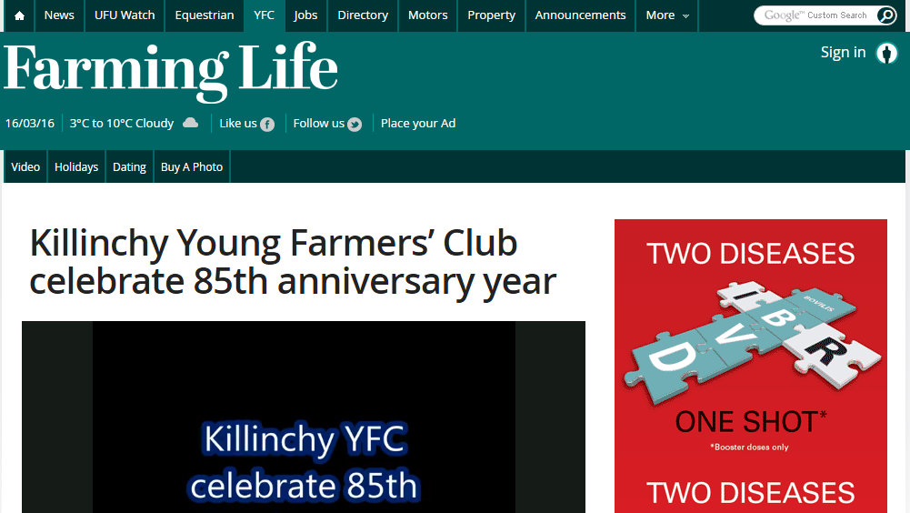 Killinchy Young Farmers' Club celebrate 85th anniversary year