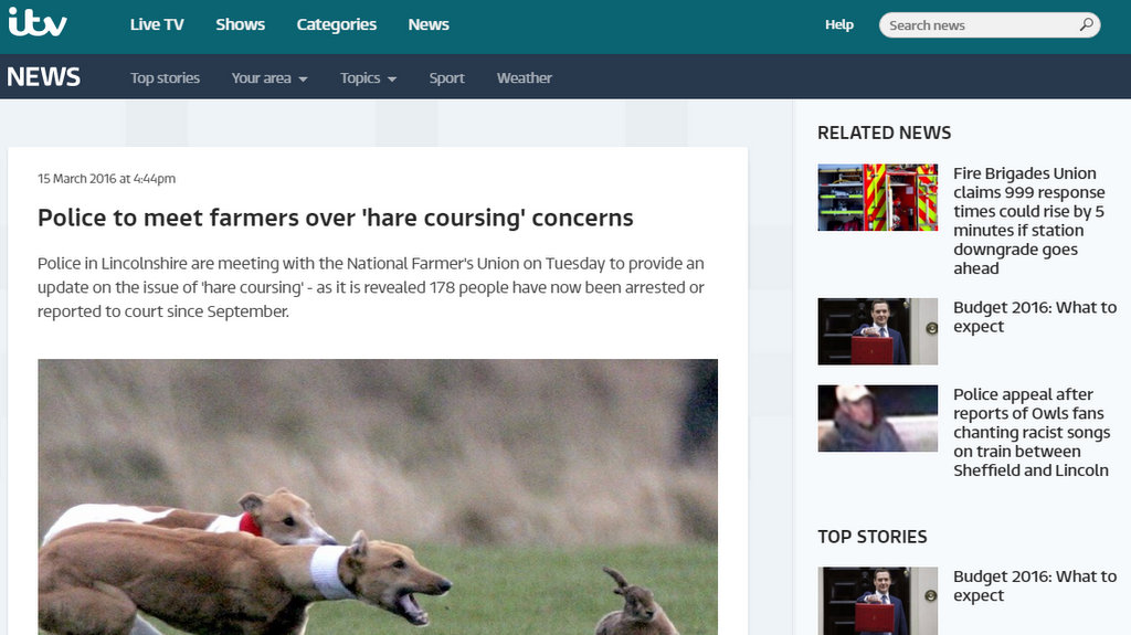 Police to meet farmers over 'hare coursing' concerns