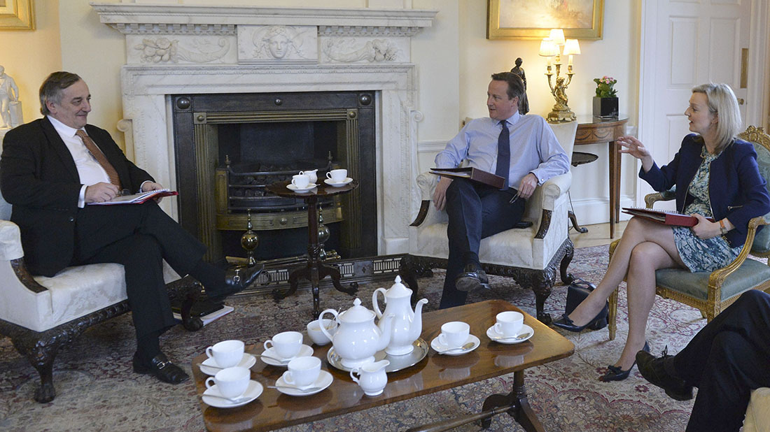 Meurig Raymond met with David Cameron and Liz Truss at 10 Downing Street yesterday (March 15)