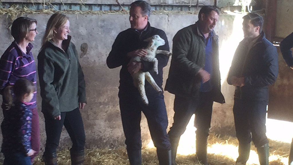 David Cameron has told farmers leaving the EU would bring risk and uncertainty