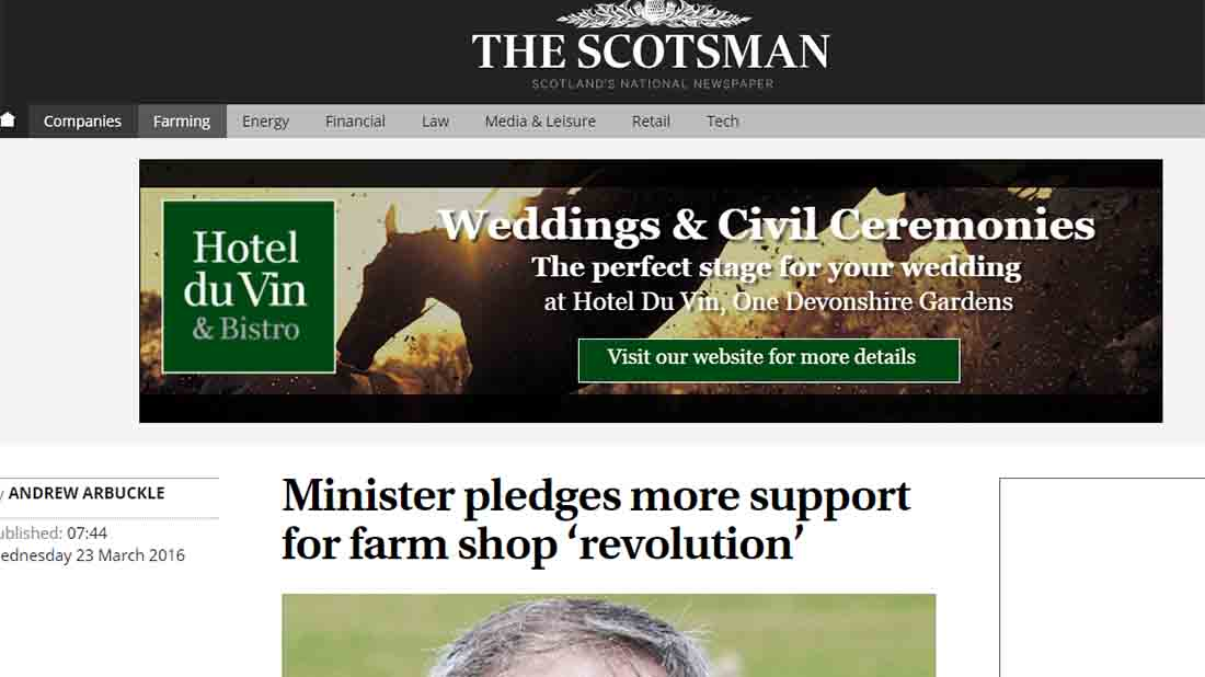 Minister pledges more support for farm shop 'revolution'