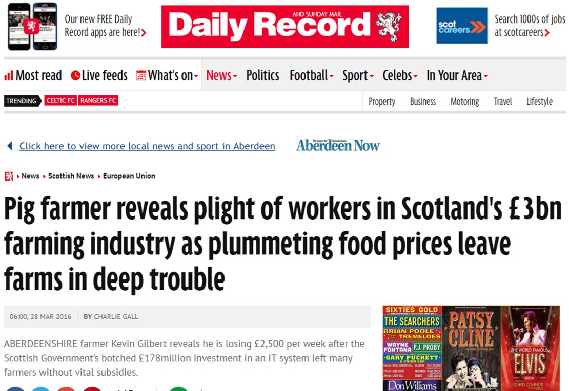 Pig farmer reveals plight of workers in Scotland's £3bn farming industry