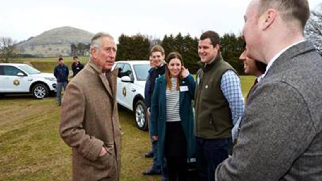 Prince Charles met with Cumbrian young farmers to launch the Land Rover bursary