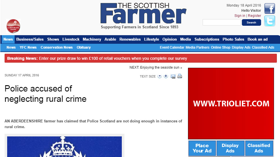 Police accused of neglecting rural crime