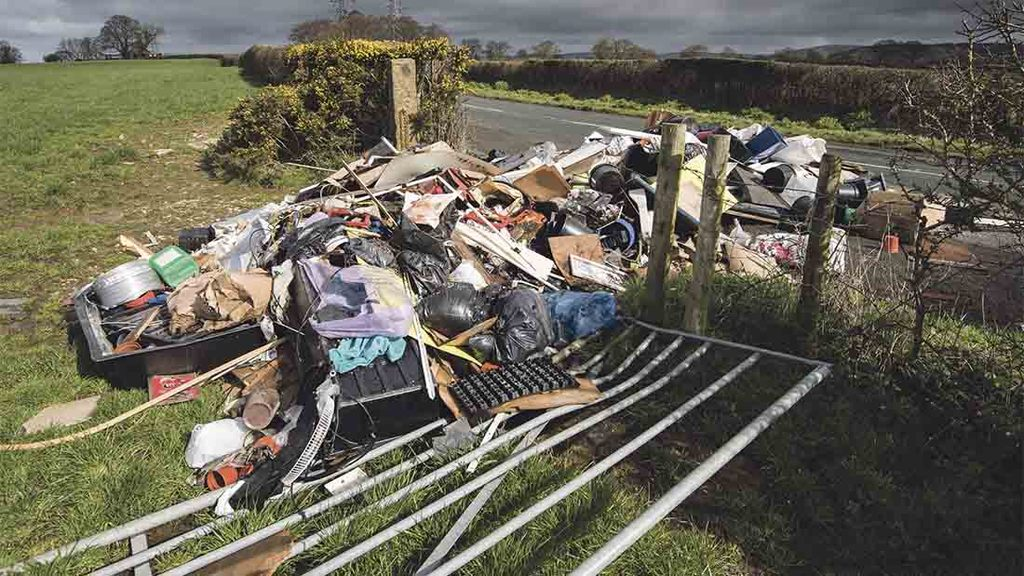 NFU calls for clamp down on fly-tipping