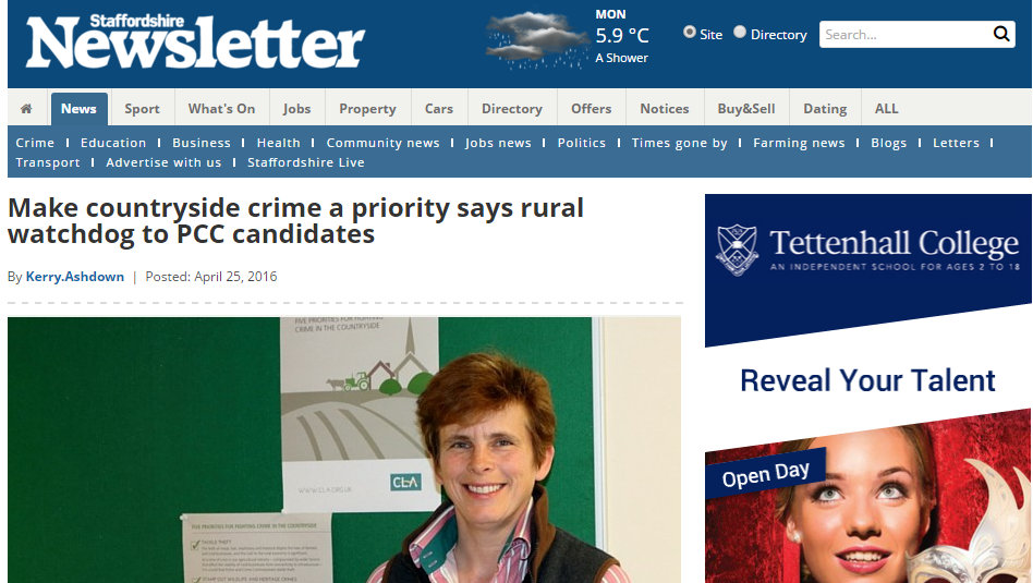 Make countryside crime a priority says rural watchdog to PCC candidates
