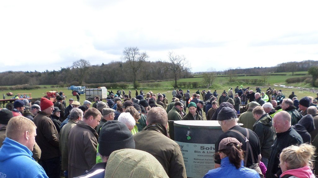 Bidders flock from far and wide to snap up machinery at Darlington farm clearance sale.