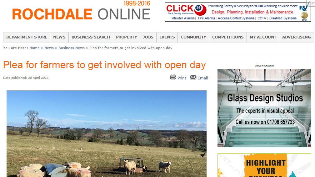 Plea for farmers to get involved with open day