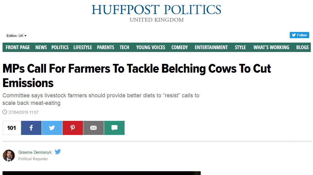 MPs Call For Farmers To Tackle Belching Cows To Cut Emissions