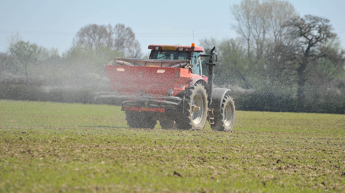 Plan grassland fertiliser after wet winter