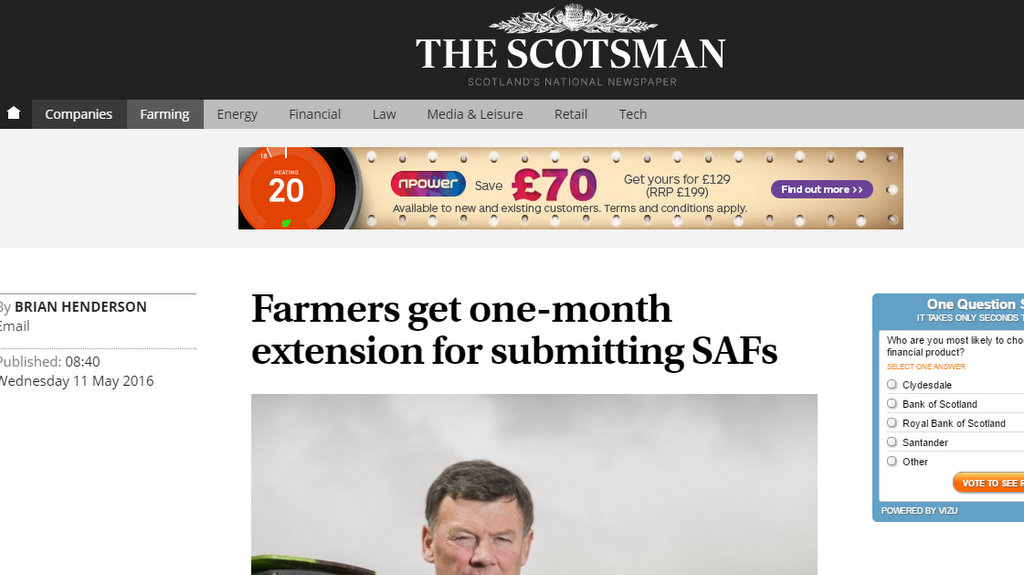 Farmers get one-month extension for submitting SAFs