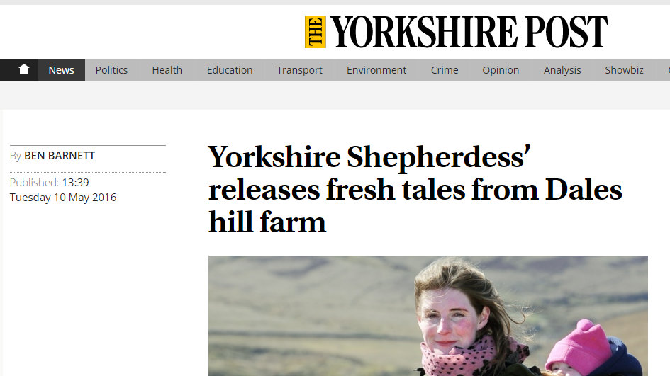 Yorkshire Shepherdess' releases fresh tales from Dales hill farm