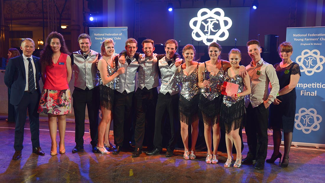Clun Valley YFC were the winners of the ballroom competition.