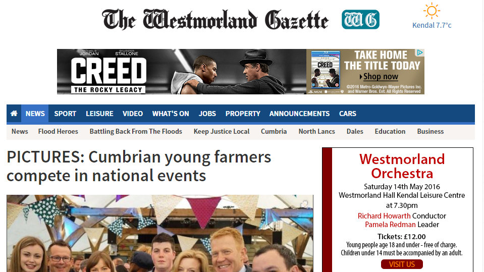 Cumbrian young farmers compete in national events