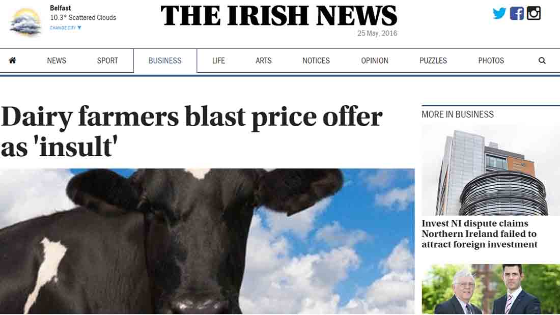 Dairy farmers blast price offer as 'insult'