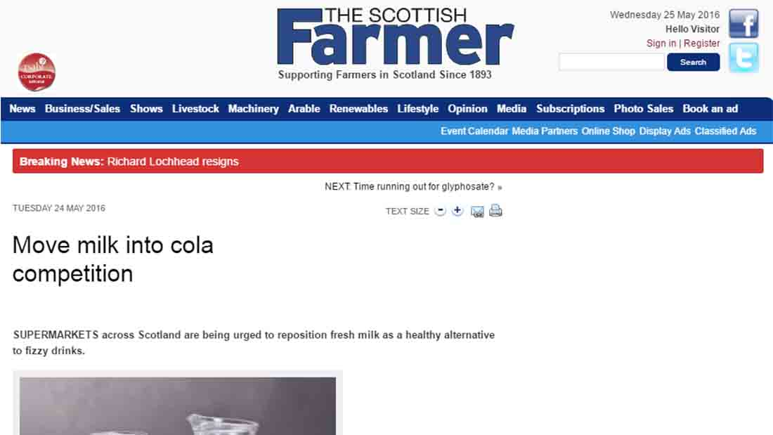 Move milk into cola competition