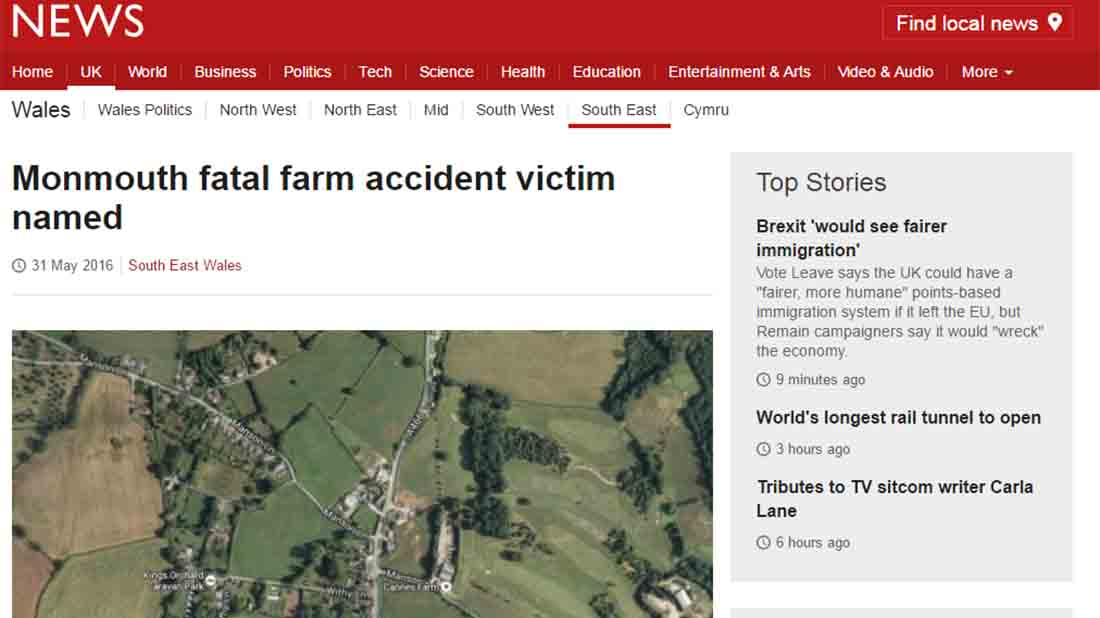 Monmouth fatal farm accident victim named