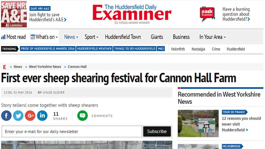 First ever sheep shearing festival for Cannon Hall Farm